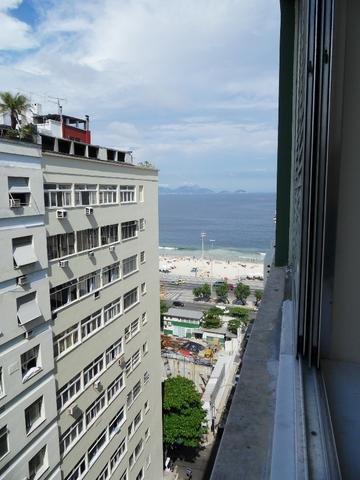 Apartamento Copacabana 3 quartos vista lateral mar