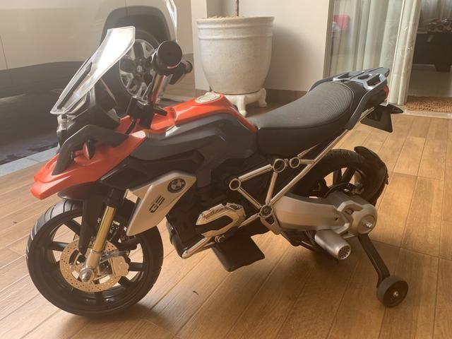 Moto Elétrica - 12V - BMW GS - Vermelha - Bandeirante - Foto 2