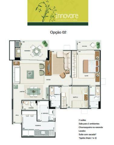 Apartamento Innovare Condomínio Clube 2/4 Sendo 01 Suite 2 Vagas individuais - Foto 2