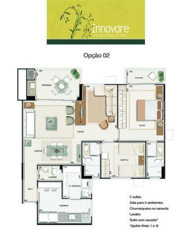 Apartamento Innovare Condomínio Clube Sol da manhã 2 Vagas individuais - Foto 2