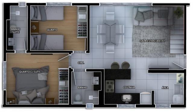 Cobertura à venda com 2 dormitórios em Caiçaras, Belo horizonte cod:6106 - Foto 6