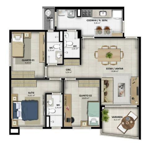 Lançamento Celi - Reserva Alameda - 2 e 3 Qtos c/ até 03 suites - Na Alameda das Árvores - Foto 18