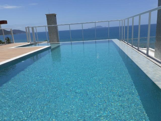 MSS1-Apto Térreo com jardím,em Residencial em frente ao mar,e com piscina na cobertura - Foto 2