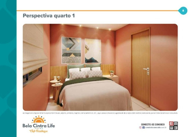 Apartamentos, Bela Cintra Life, 2 dormitórios