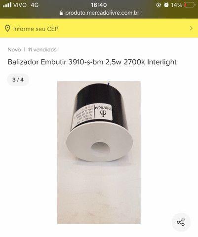 Vendo balizador de embutir 3000K branco quente - Foto 2