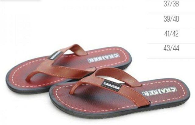 Kit com 2 chinelos ou slides masculino (leia abaixo a descrição) - Foto 4