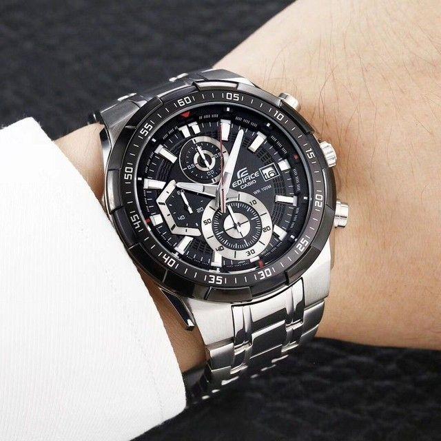 Relógio masculino prova dágua edifíce100% funciona - Foto 4