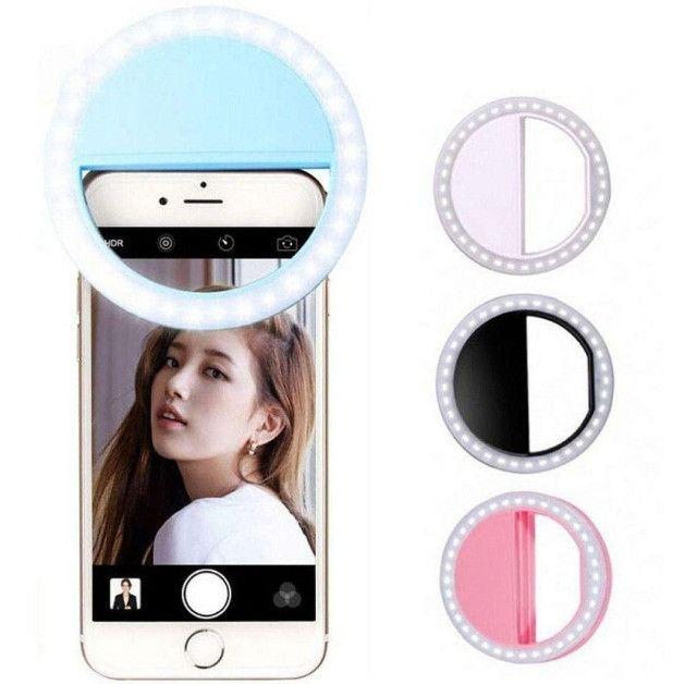E que se faça a luz Clipe Anel Luz Selfie Ring Light Flash Celular Universal 617 - Foto 2