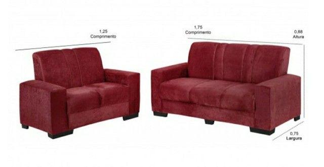 Jogo de sofa tecido de suede novo entrega grátis  - Foto 4