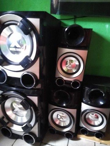 Vendo caixas de som semi novo  - Foto 2