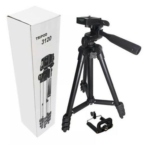 Tripé Tripod Telescópico 3120 Alumínio 1,04M Profissional Ideal para Câmeras Smartphones - Foto 6