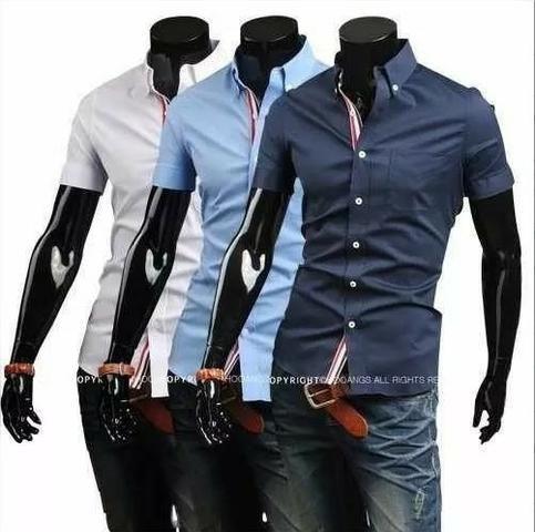 a1052694a Camisa Social Slim Fit Manga Curta - Roupas e calçados - Tarumã ...