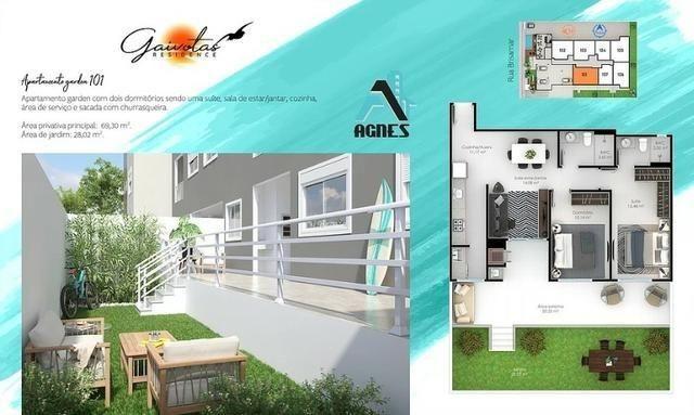 Duplex 02 Dormitórios a 190 Metros da Praia Área Nobre - Foto 7