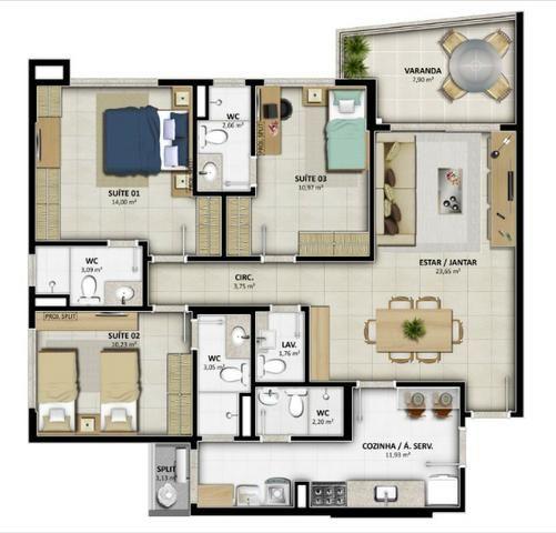 Lançamento Celi - Reserva Alameda - 2 e 3 Qtos c/ até 03 suites - Na Alameda das Árvores - Foto 19