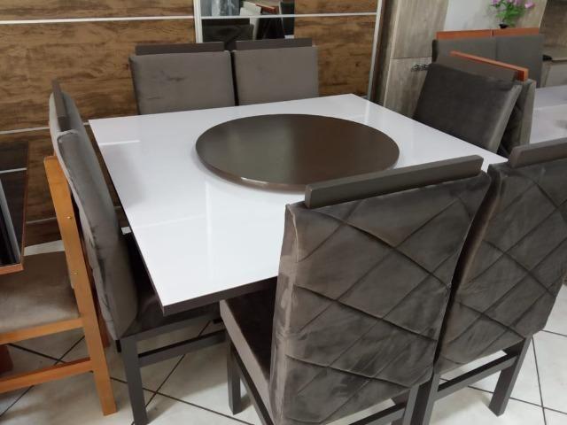 Mesa de vidro com 6 cadeiras - Foto 6
