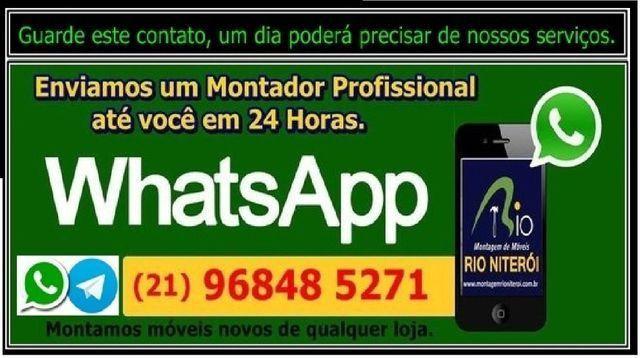 Guarda roupas Siena 3 portas de correr - Montagem 120,00 * Montagem Rio Niterói - Foto 6