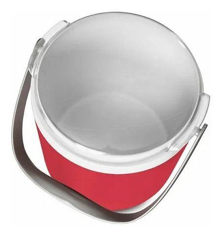 Cooler Térmico Coleman Circle 8,5 L Vermelho Até 12 Latas - Foto 2