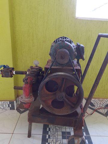 Lavadora de alta pressão motor com mangueira  - Foto 2