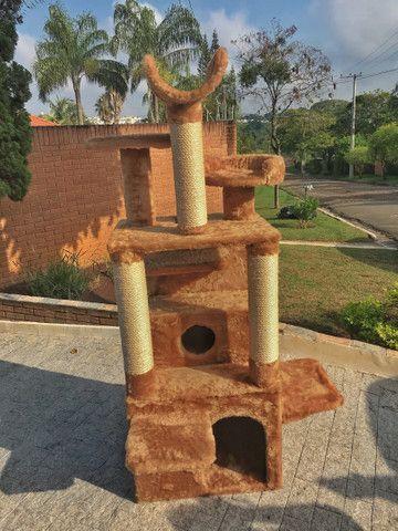 Arranhador de gato sem uso com vários andares,entrega grátis campinas e região  - Foto 2