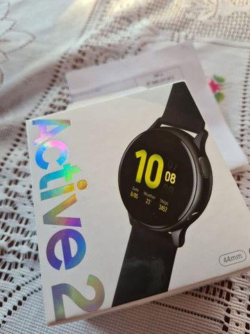Smart Whatch Samsung Galaxy Active 2 preto, zero e lacrado - Foto 3