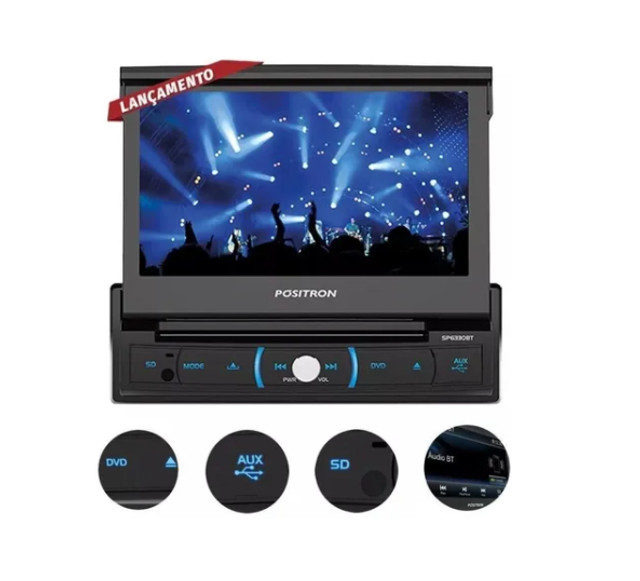 Dvd Autom Positron Sp6330 Tela 7 Com Espelhamento