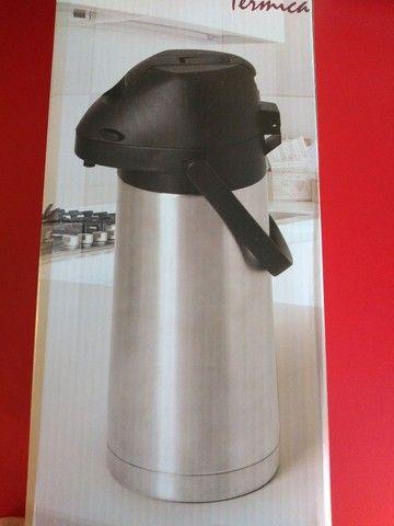 Garrafa térmica inox com alavanca - Foto 3