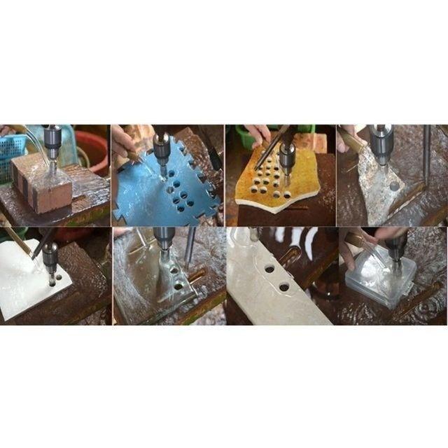 Kit Serra Copo 13 Brocas Diamantadas De 6 A 30 Mm Para Vidro Mármore Granito Porcelanato - Foto 3