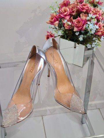 Schutz sapato alto com pedrarias - Foto 2
