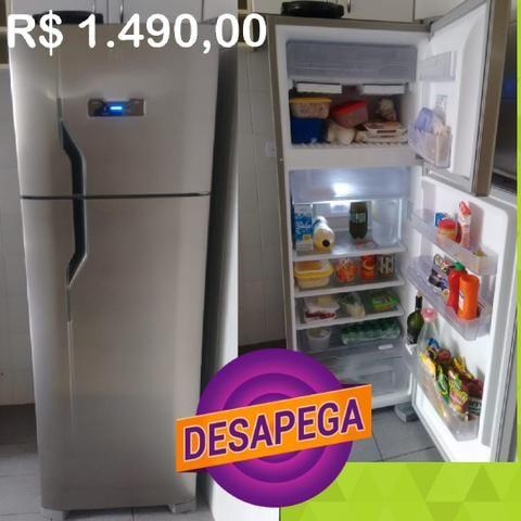 Geladeira duplex frost free inox DESAPEGAA uppp