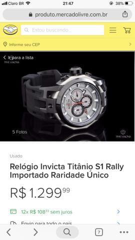 Invicta S1 Rally titânio americano original