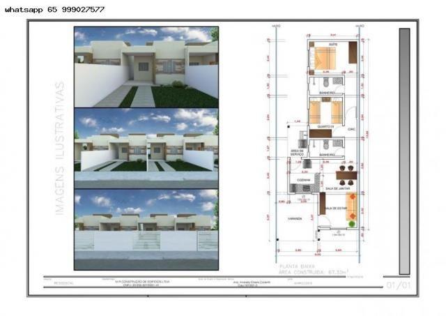 Casa para venda em várzea grande, paiaguas, 2 dormitórios, 1 suíte, 2 banheiros, 2 vagas - Foto 17