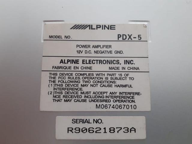 Amplificador Alpine PDX 5 - Foto 4