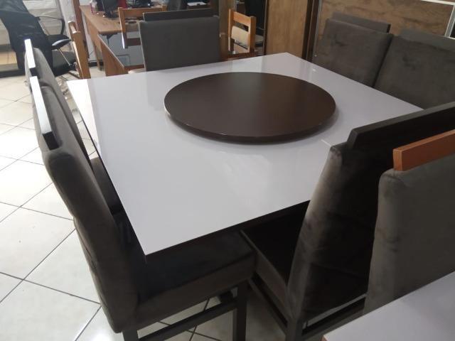 Mesa de vidro com 6 cadeiras - Foto 4