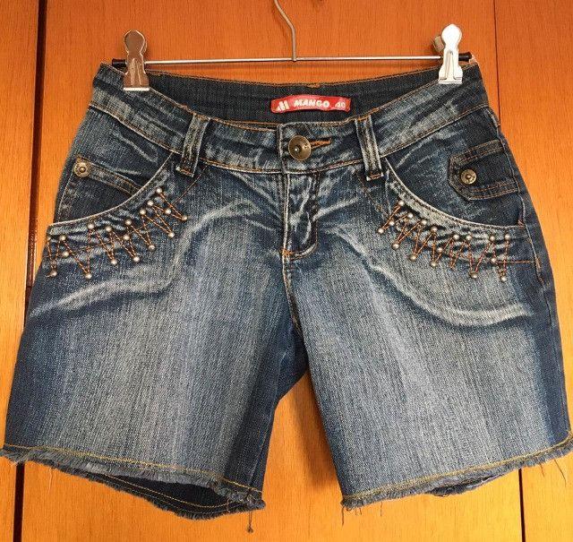 Bermuda jeans feminina - Foto 5
