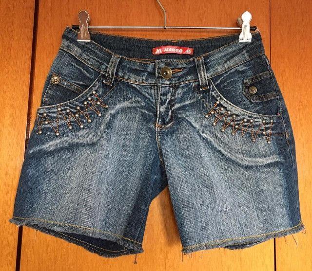 Bermuda jeans feminina - Foto 6