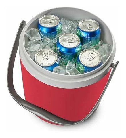 Cooler Térmico Coleman Circle 8,5 L Vermelho Até 12 Latas