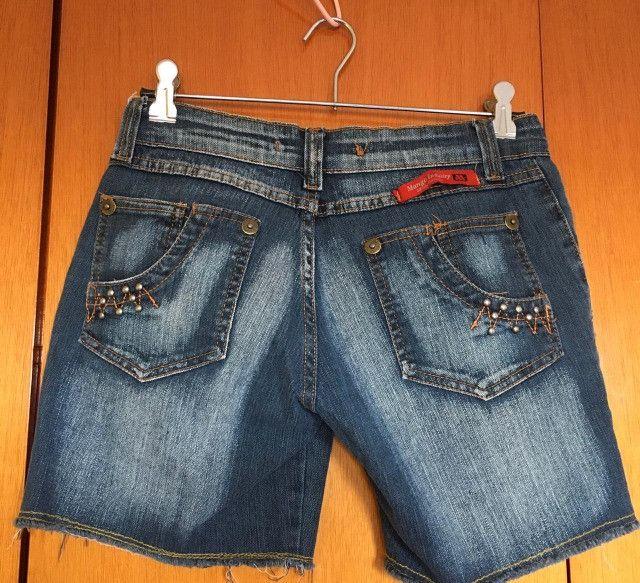 Bermuda jeans feminina - Foto 4