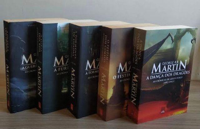 Coleção 5 livros game of thrones - crônicas de gelo e fogo  - Foto 2
