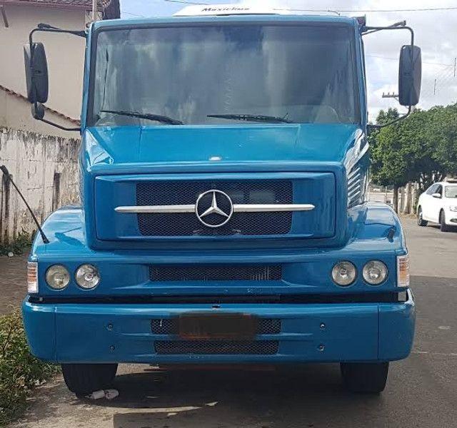 Caminhão Mercedes 1620 - 2008  Caçamba  Azul