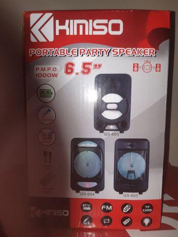 Caixa de som bluetooth com entrada para microfones  - Foto 2