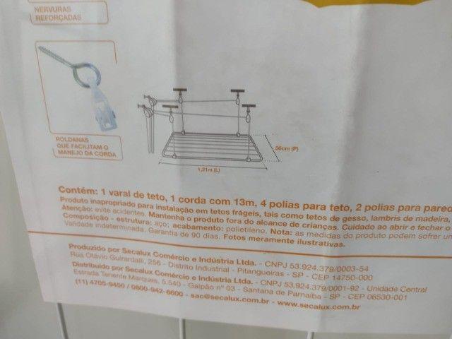 Varal De Teto Em Aço De 1.20m | Secalux - Foto 2