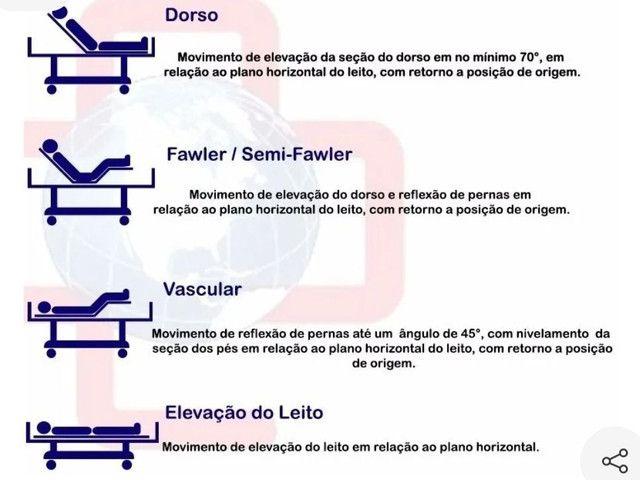 CAMA HOSPITALAR FAWLER 3 MOVIMENTOS COM ELEVAÇÃO.  - Foto 5