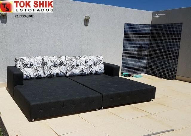 Sofá para área de piscina SF338 revestido em material impermeável - Foto 3