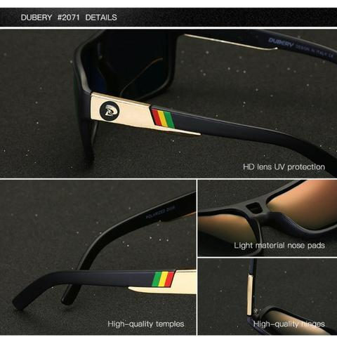 d095b3217 Lindo Óculos De Sol Dubery Polarizado Lentes Polaroid Uv 400 ...