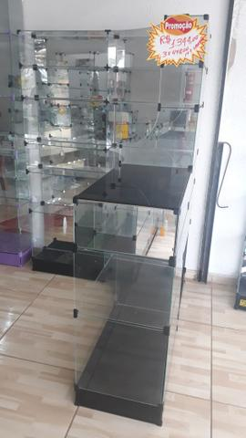 Prateleira ou balcão caixa de vidro - Foto 2