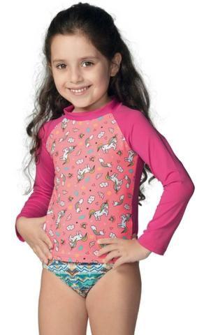 Blusas Manga Longa Proteção Solar UV Demillus Infantis - Foto 2