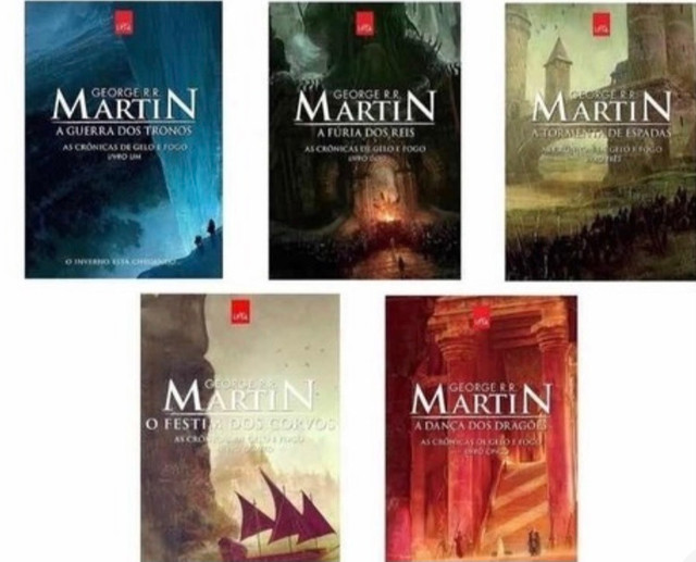 Coleção 5 livros game of thrones - crônicas de gelo e fogo