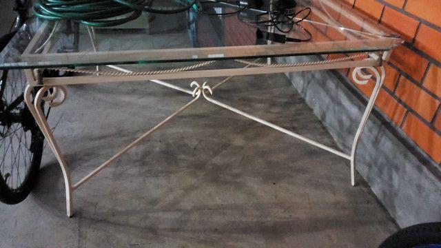 Estrutura mesa para vidro