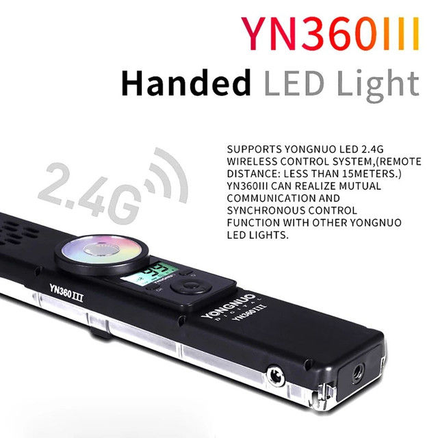 Bastão de led Yongnuo YN360 iii + bateria + carregador + fonte - Foto 5