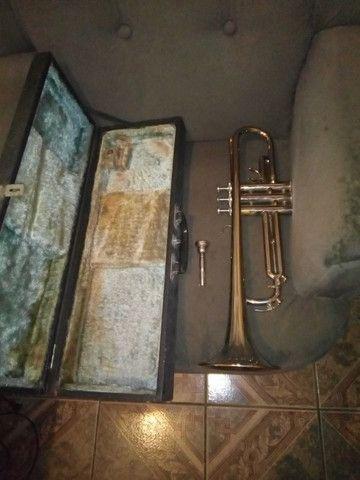 Trompete Completo com Estojo - Foto 3